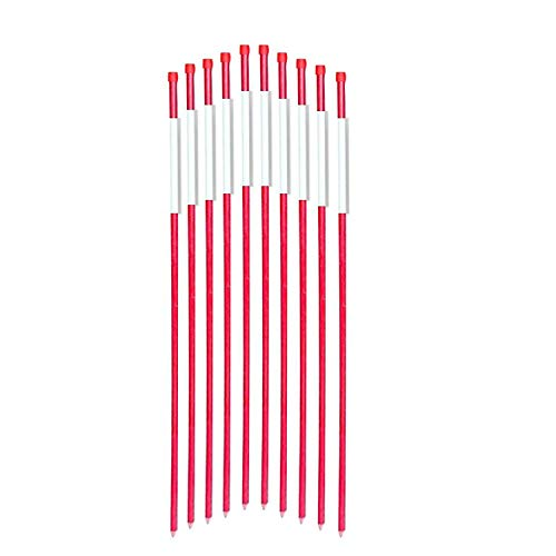 FiberMarker Driveway Markers 48-Inch Red 50-Pack 5/16-Inch Dia Solid Snow Poles Snow Markers Snow -