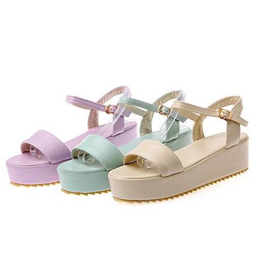 SJJH Platform Sandals with Large Size 12 UK and 3-Colors Available Casual Sandal Shoes Beige jQgzJ