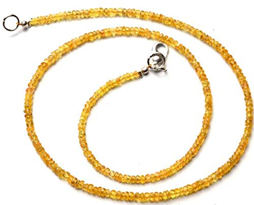 (GemAbyss Beads Gemstone 1 Strand Natural Songea Sapphire 3MM Approx. Facet Rondelle Beads 16.5 Inch Long Long Code-MVG-11421)
