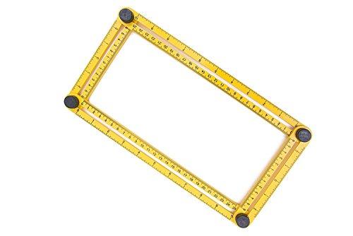 [해외]Antallcky Angleizer 눈금자 템플릿 도구 다중 각도 측정, 각도 눈금자 Carpenter Handymen Builders의 일반 도구/Antallcky Angleizer Ruler Template Too