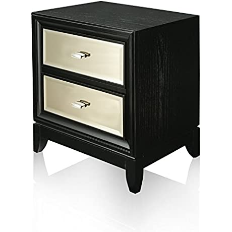 HOMES Inside Out Iohomes Tristan Modern Nightstand Black Gold Not Applicable Black And Gold