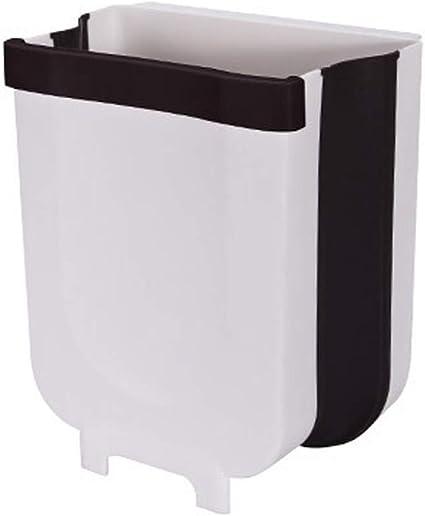Bote de basura montado en la pared de la cocina, Papelera multifuncional para puerta de gabinete que ahorra espacio, Papelera Plegable, Sala de estar ...