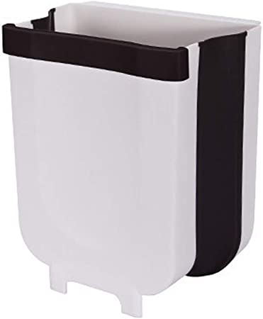 Household Wall Mounted Folding Waste Bin Kitchen Cabinet Door Hanging Trash Cans