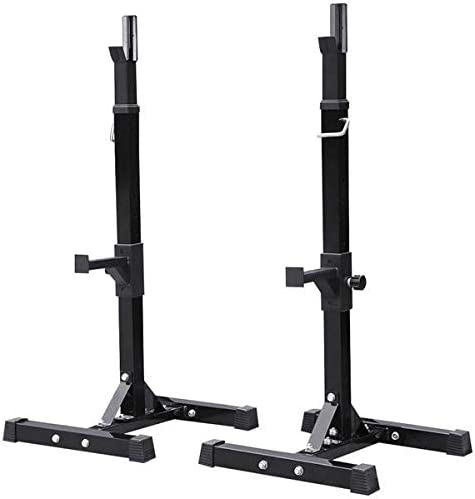 Amazon.com : Yaheetech Pair of Adjustable Squat Rack Standard 44-70 Inch  Solid Steel Squat Stands Barbell Free-press Bench Home Gym Portable  Dumbbell Racks Stands : Sports & Outdoors