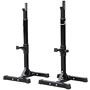 Yaheetech Pair of Adjustable Squat Rack