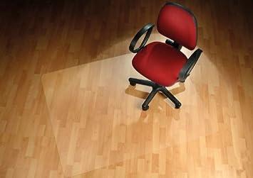 FloordirektPRO-Sedia da ufficio, per pavimenti duri, protezione 100% policarbonato, Policarbonato, Trasparente, 75 cm x 120 cm