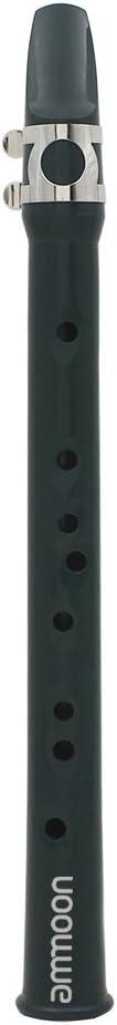 ammoon Mini Saxofón del Bolsillo Sax Eb Plástico con Paño de Limpieza Llevar Guantes de Bolsa Instrumento de Viento de Madera para el Principiante