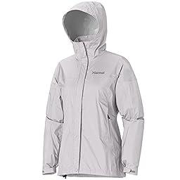 Marmot Women\'s PreCip Jacket: Shell (Platinum, XXLarge)