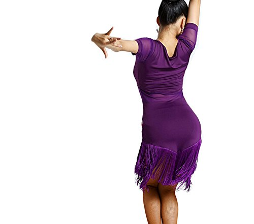 Ropa Púrpura De Latino Motony Traje Mujer Baile Faldas Vestido UXR1Tqw