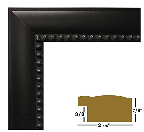 """US Art Frames 10x12 Black Beads 2 1/8"""" Solid Wood Picture Poster Frames"""