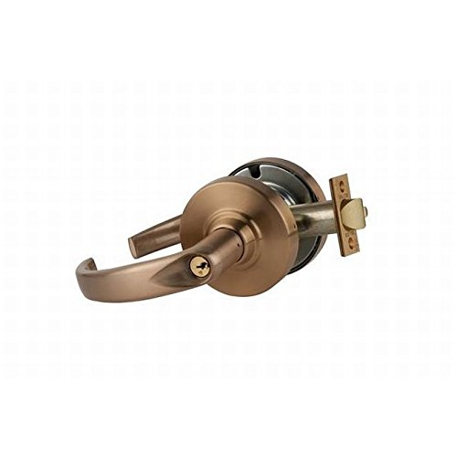 Entry//Office Function Push-Button Locking Sparta Lever Design Satin Bronze Finish Schlage commercial ND50SPA612 ND Series Grade 1 Cylindrical Lock