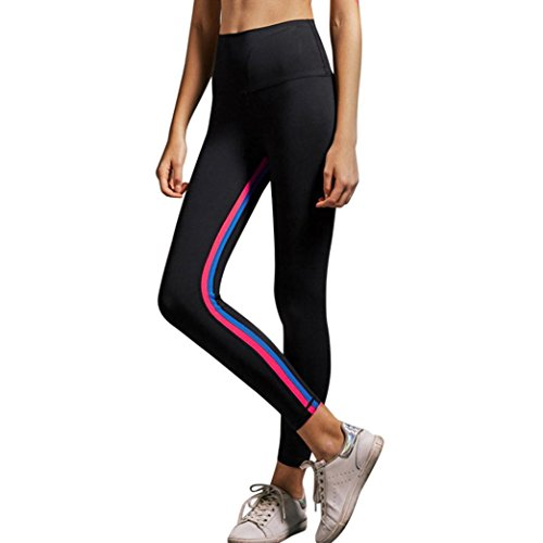 Hot Sale!Yoga Pants,Dainzuy Women's Casual High Waist Striped Skinny Sports Fitness Leggings Pants Workout Clothes
