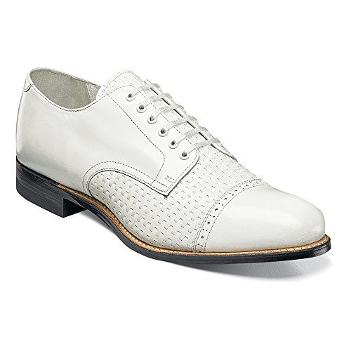 Stacy Adams Mens Madison-70 Oxford White