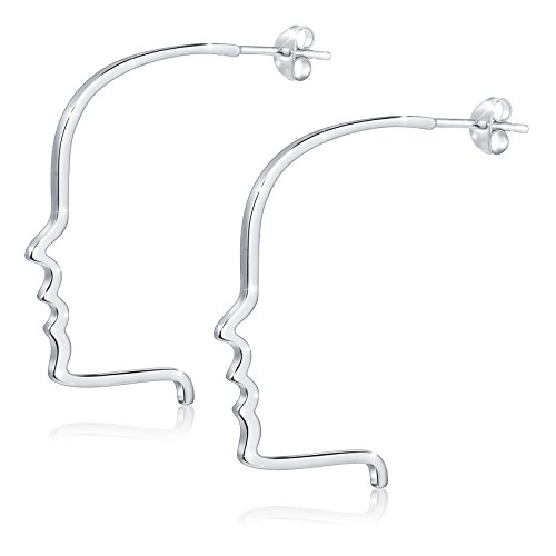 ❄Christmas Gifts❄ S925 Sterling Silver Facial Contour Thread Dangle Earrings for - Shapes Face Female