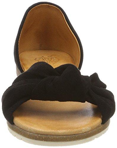 Sandales Chelsea 1 Noir Bout Apple Ouvert of Black Femme Eden qtxwqUE