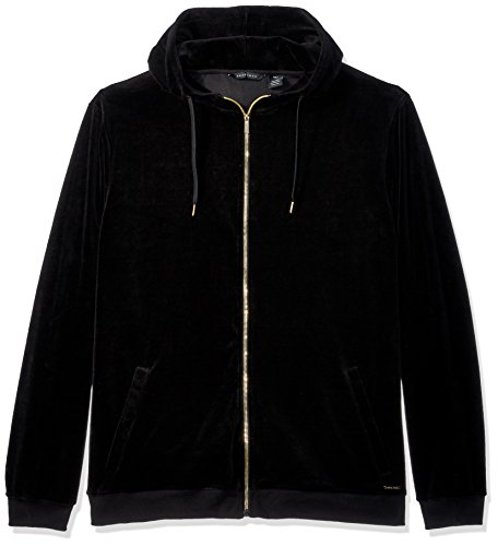Sean John Men's Tall Size Zip up Travel Velour Tracksuit Top, PM Black, 4XLT (Velour Tall)