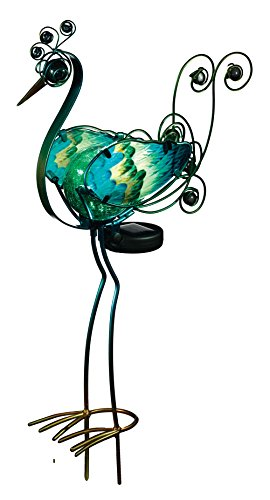 Regal Art &Gift Solar Peacock Stake, Green, 21-Inch