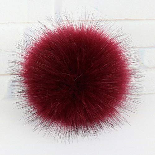 Raccoon Fur Fluffy Pom Pom Ball with Snap Button Winter Hat Cap Coat Accessories (Colors - - Coverlet Tadpoles