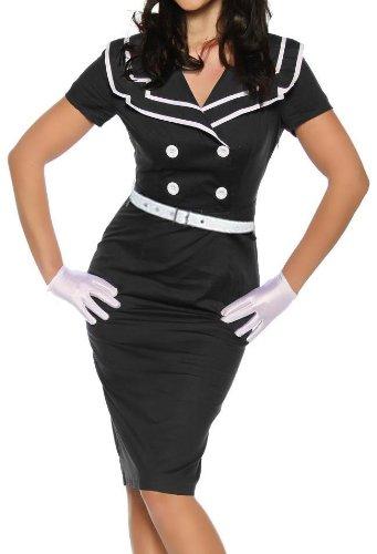 Up schwarz VINTAGE Style Kleid weiss Pin W6YYFBqw