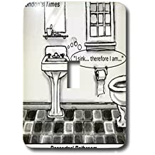 lsp_1662_1 Londons Times Funny Society Cartoons - Descartes Bathroom - Light Switch Covers - single toggle switch
