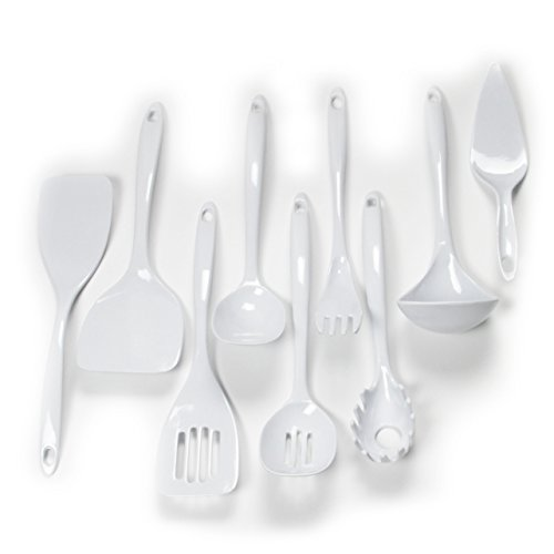 Chef Craft 42055 9-Piece Kitchen Tool Set, White
