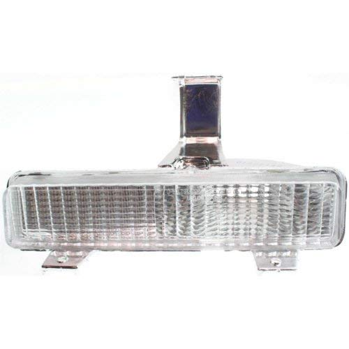 Turn Signal Light Compatible with CHEVROLET CAPRICE 1980-1990 RH Lens and Housing On Bumper