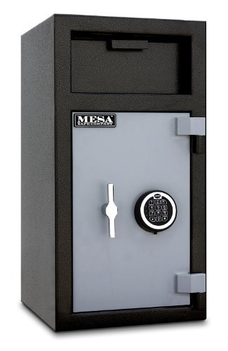 Mesa Safe MFL2714E-ILK Depository Safe with Internal Locking Compartment, 1.5 Interior Cubic feet, 27.5-Inch by 14-Inch by 14-Inch