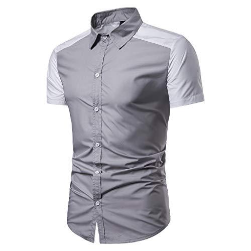 MmNote Save 15% Mens Fashion Men's Business Fashion Slim Stretch Men's Custom Original Premium Self-Cultivation Fit Polo Gray ()