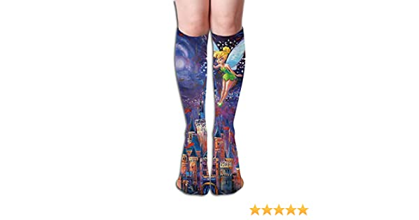 One Size Girls Womens Flowers Paddle Surf Board Over Knee Thigh High Stockings Cute Cosplay Socks