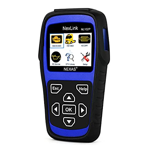Heavy Duty Truck Scan Tool NL102 Plus Auto Scanner with DPF/ Sensor Calibration / Oil Reset Tool + Engine Check Tool for Car, Truck & Car 2 In 1 Code (Heavy Duty Diesel Tools)