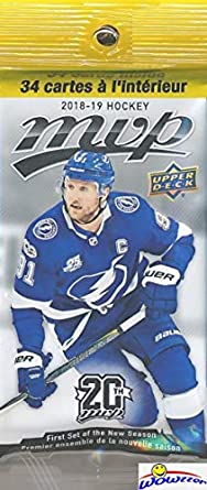 488362af7 2018 19 Upper Deck MVP NHL Hockey Awesome Factory Sealed JUMBO FAT PACK  with 34