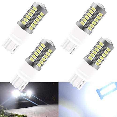 Bulb Lamp Parking - T20 7440 W21W LED Light Bulbs 7440 White Automobile light bulbs Turn Side Lamp Car Reverse Lamp Parking light Rear Fog Lamp Turn Signals Light Source (pack of 4)