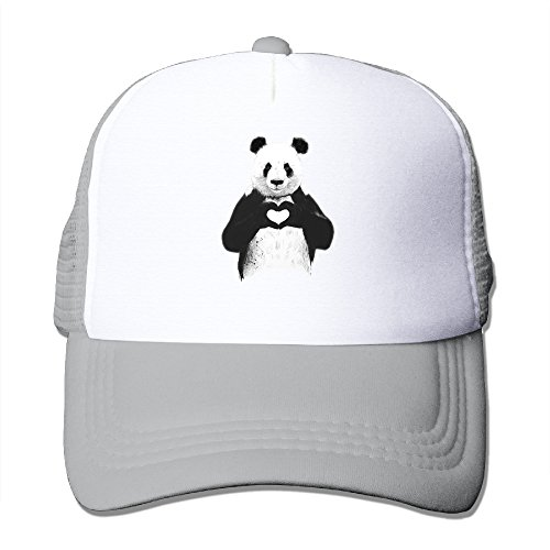 Price comparison product image Unisex Cool Panda Love Heart Trucker Hat Mesh Caps