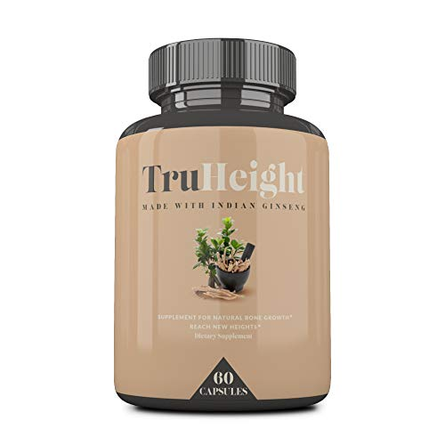 TrueHeight: Height Enhancement Vitamins - Maximum Natural Height Growth Formula, Helps You Grow Taller - Increases Bone Strength, Builds Bone Density, Stimulates Bone Growth - Nanometer Calcium (Best Height Increase Supplement)