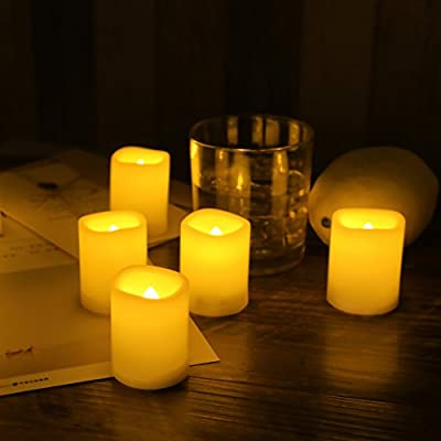 Candle Choice Set of 12 Flameless Candles, Flameless Votive Candles LED Votives with Timer, Battery-operated LED Candles with Timer, Long Battery Life 200+ Hours, Battery Included.