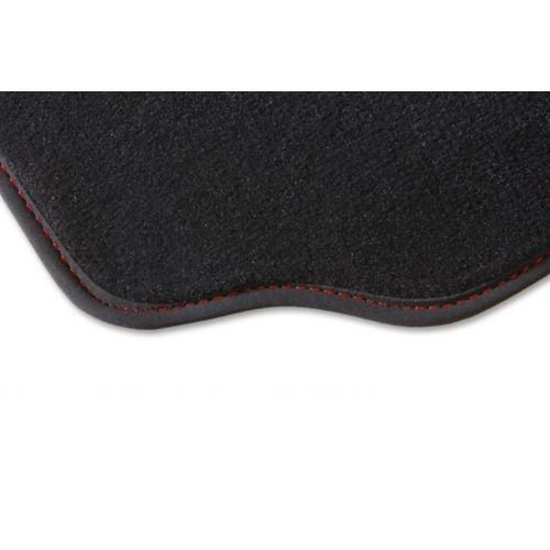 Alfombra Q75Plazas, 1alfombra de maletero gris/rojo, del 01.06AU 12.14sobre medida. Piel sintética alfombra Gold