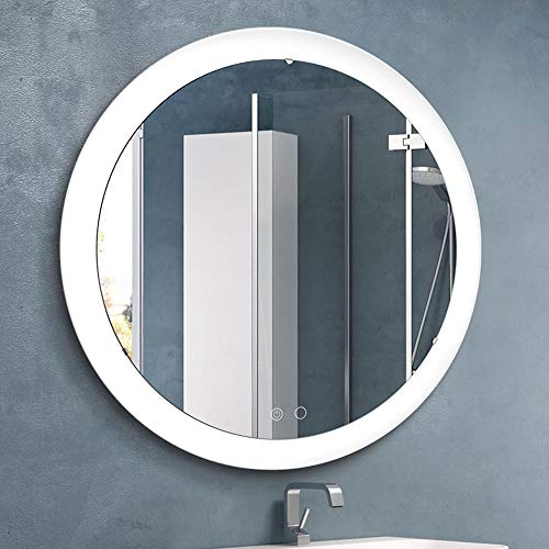 Nitin Wall Mounted Vanity Mirror with Light, Modern Circle Makeup Mirror with - Bathroom Of Different Kinds Mirrors
