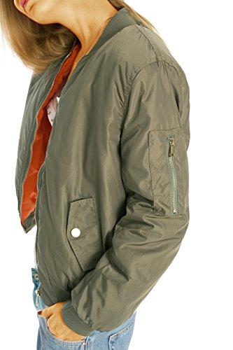 Lunghe Donna Mao Maniche Collo Bestyledberlin Verde Giacca Militare Camicia qwfxaxUF