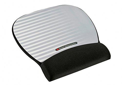 Precise Mousing Surface with Gel Wrist Rest - Mauspad mit Handgelenkpolsterkissen - Silber by 3M
