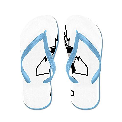 Cafepress Fantom Ii & Dess Växlar - Flip Flops, Roliga Rem Sandaler, Strand Sandaler Caribbean Blue