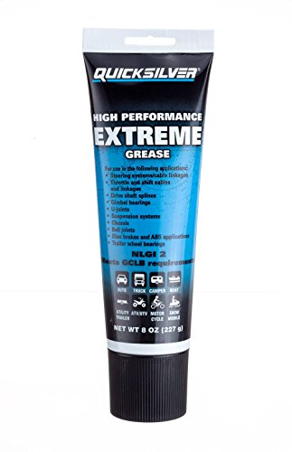 Quicksilver 8M0071838 High Performance Multi-Purpose Extreme NLGI 2 Marine Grease, 8-Ounce Tube