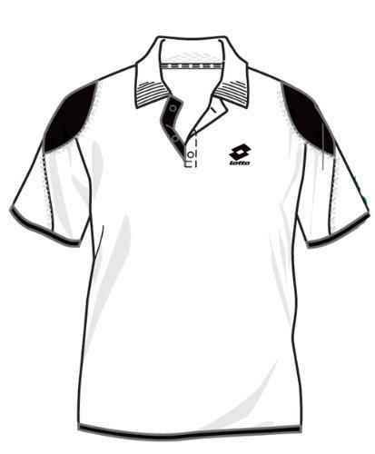 Lotto Poloshirt ATP Skin, Herren, Gr. L (US), white/black G8075