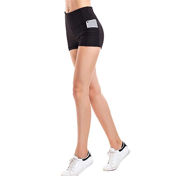 Amazon.com: Pantalones cortos deportivos para mujer ...