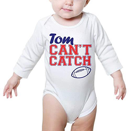 PPLOPO Boy/Girls Romper Bodysuit for Newborn Baby Onesies Goat 12 Tom Can't Catch Football Long Sleeve Romper Jumpsuit (Best Football Catches 2019)