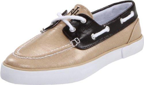 Lauren Ralph Lauren Womens Bristol Fashion Sneaker Khaki/Dark Brown jc8nCGojI
