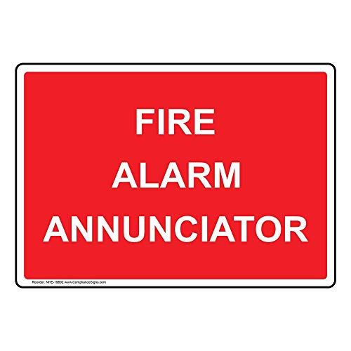 Fire Alarm Annunciator Label Decal, 5x3.5 in. 4-Pack Vinyl for Fire Safety/Equipment by ComplianceSigns - Fire Alarm Annunciator Panel