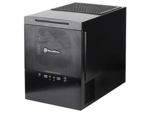 (Silverstone Tek Micro-ATX/DTX/Mini-ITX Aluminum Front Panel/Steel Body Mini Tower Computer Case SG10B, Black)