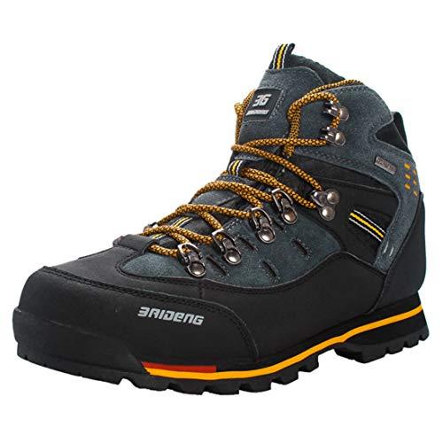 Footwear Duty Heavy (FREAHAP R Mens Hiking Boots Waterproof Heavy Duty Hiking Trekking Shoes Yellow+Black US 8)