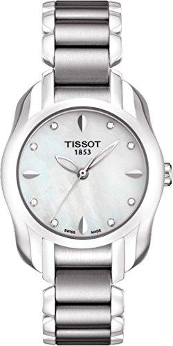Tissot T-Wave Round White Mother-of-Pearl Diamonds Quartz Trend Women's watch #T023.210.11.116.00