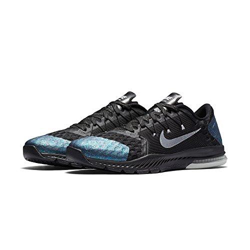 Nike Zoom Zug Complete (Schwarz / Anthrazit / Weiß, Herrengröße 11,5 US) Schwarz Metallic Silber